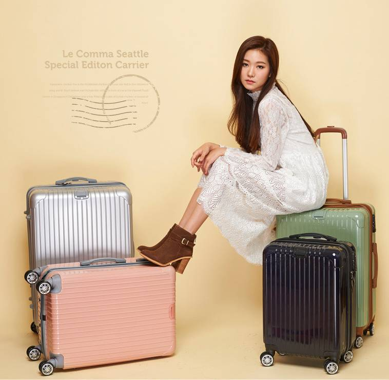 NO:PC-188Vertical stripe universal wheel travel box Luggage Trolley Bags