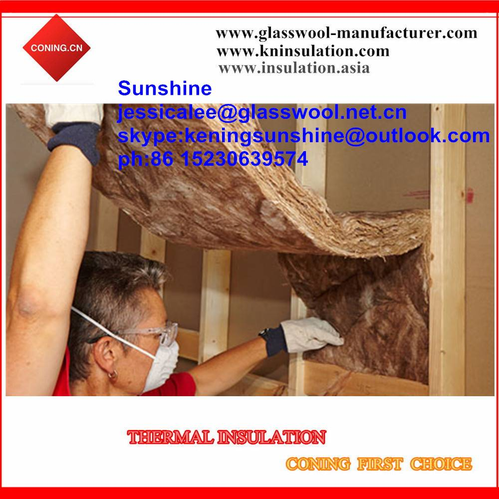 100% formaldehyde-free glass wool insulation/ brown color earthwool batts