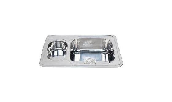 Chinese supplier special design double bowl rectangular stainless steel sink WY-7050