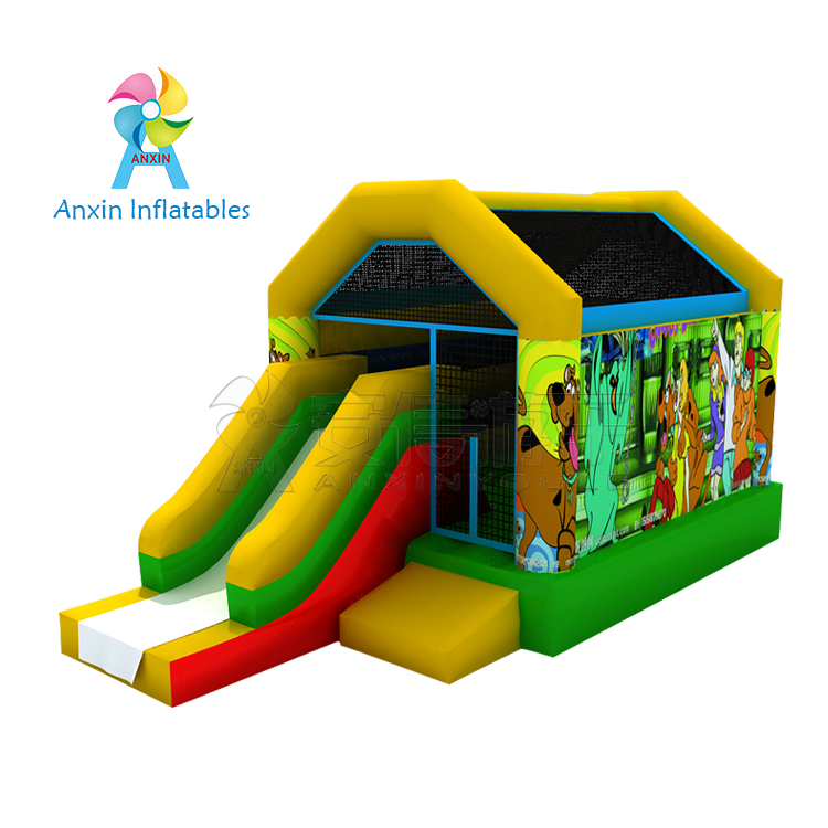 Customized Inflatable castle outdoor bouncy castle with slide for children