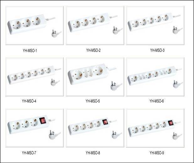 Socket outlets Multiple Socket Power Surge Protector extension socket power strip