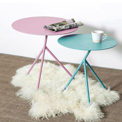 Modern Simply Design Powder Coated Finish Tea Cafe Coffee Table Home Decor Table