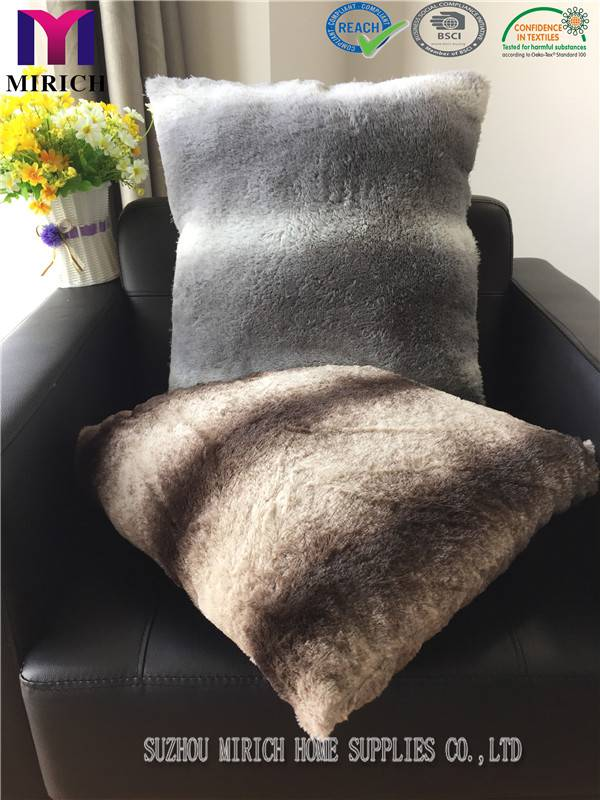 Double Side Fake Fur Discharge Printing China Cushion