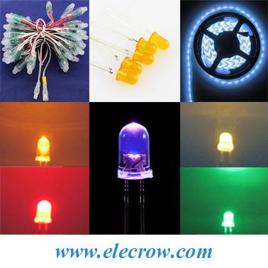 3mm/5mm/8mm Super Brigth Diffused Round White/Red/Blue/Purple/Yellow/Green/RGB/Full Color/Colorful L