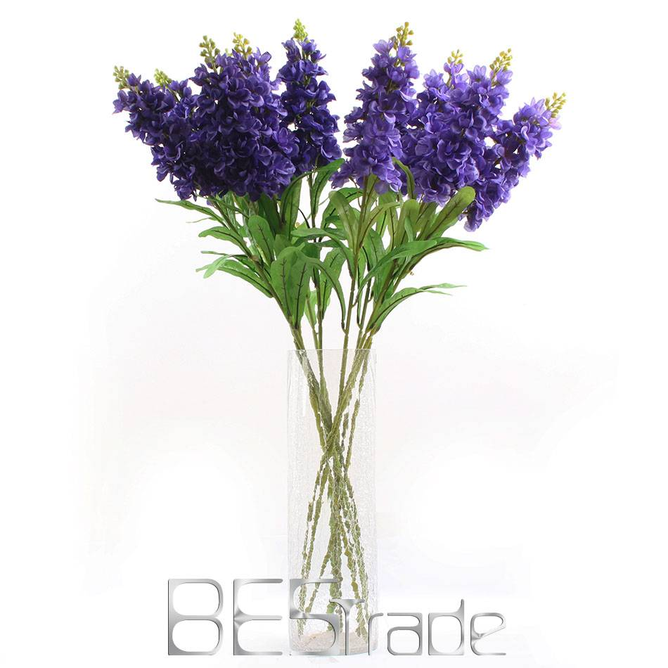 Wholesale China artificial silk Violet single branch The butterfly flowers
