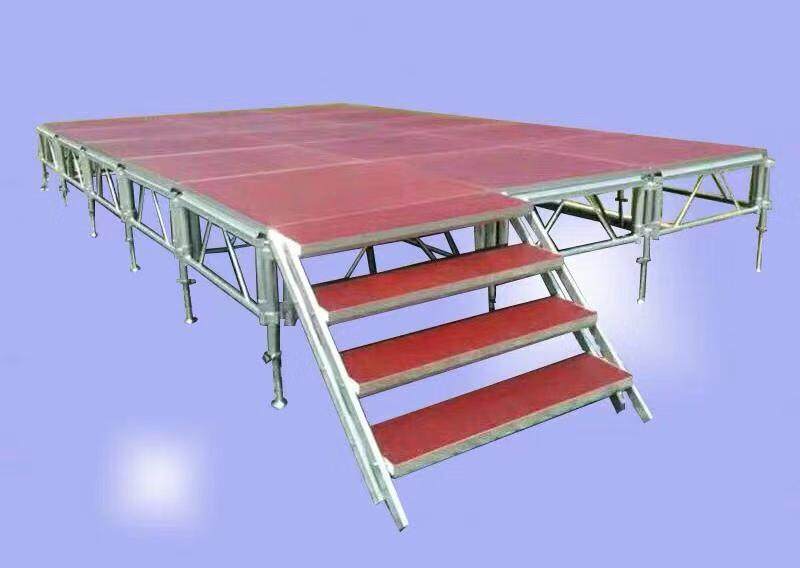 Wedding tent stage, movable stage platform for outdoor wedding party tent floor