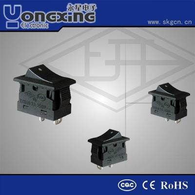 2A 250V AC Rocker switch/ Electric switch / 4 pin round rocker switch