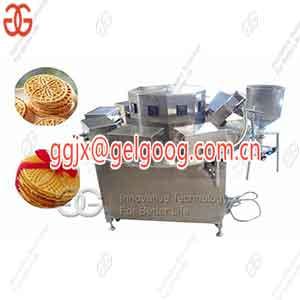 Automatic Italian Pizzelle Baking Machine Round Waffle Cookie Machine