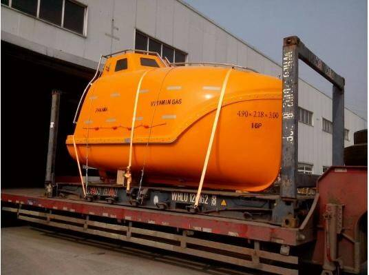 16 persons Marine free fall fiberglass lifeboat/Used life boat (Tanker version&cargo version)