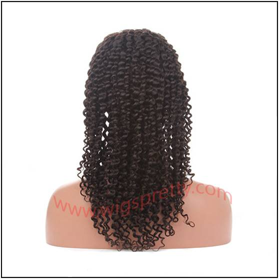 100%human hair full lace wigs deep curl
