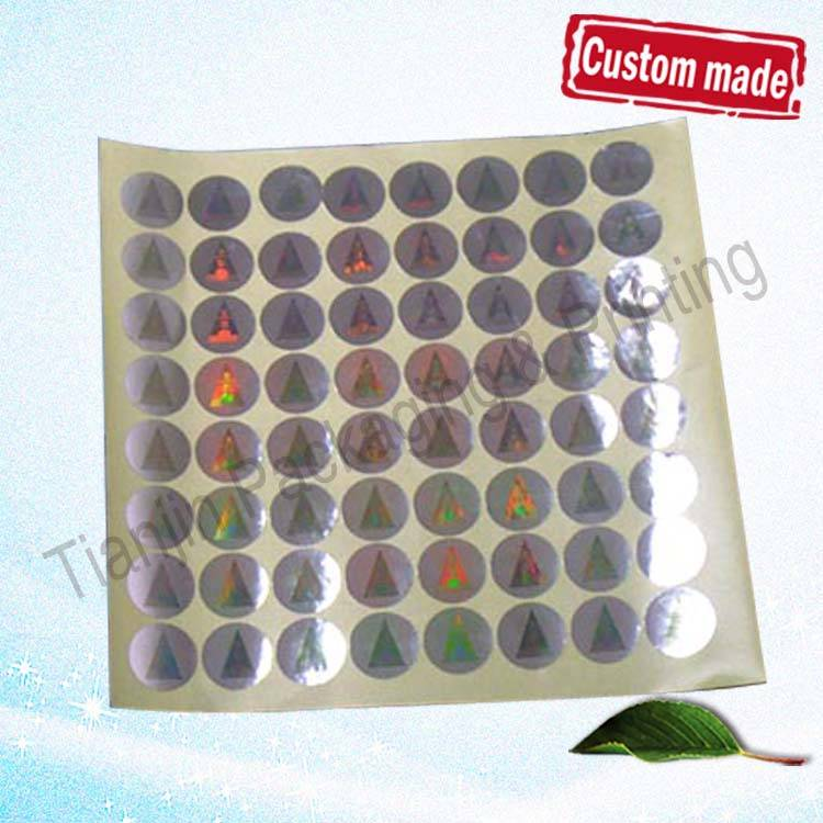 Custom hologram label stickers, security hologram sticker, warranty hologram label