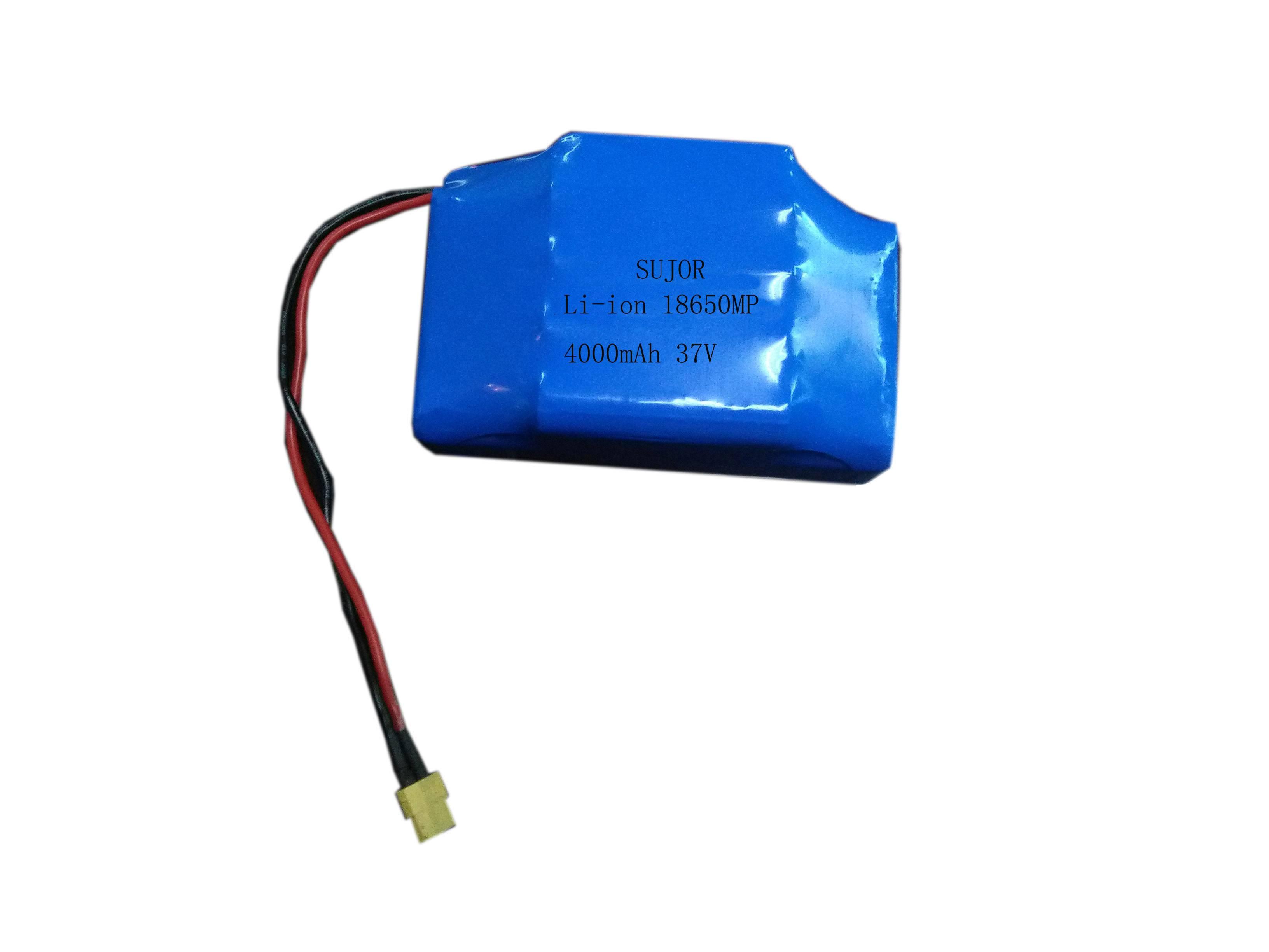 E-bike battery pack lithium ion 37V 18650MP 4000mAh