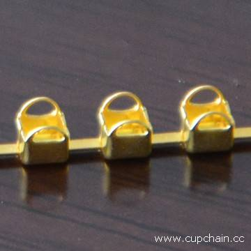 round ear cup chain,emtpy cup chain, brass cup chain