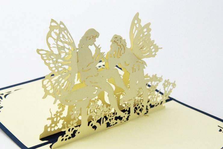 Angel 3D pop up greeting card