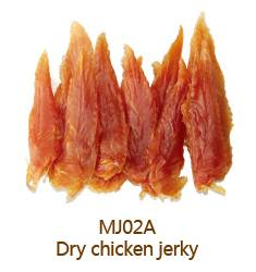 dry chicken jerky pet treat