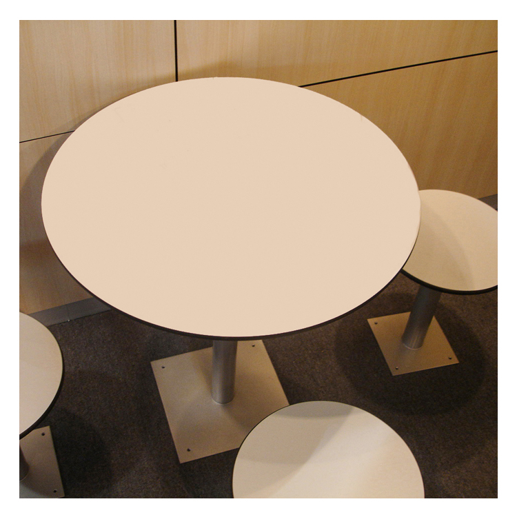 round compact laminate table top