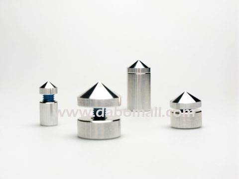 Aluminium standoffs for interior design applications, pop displays.