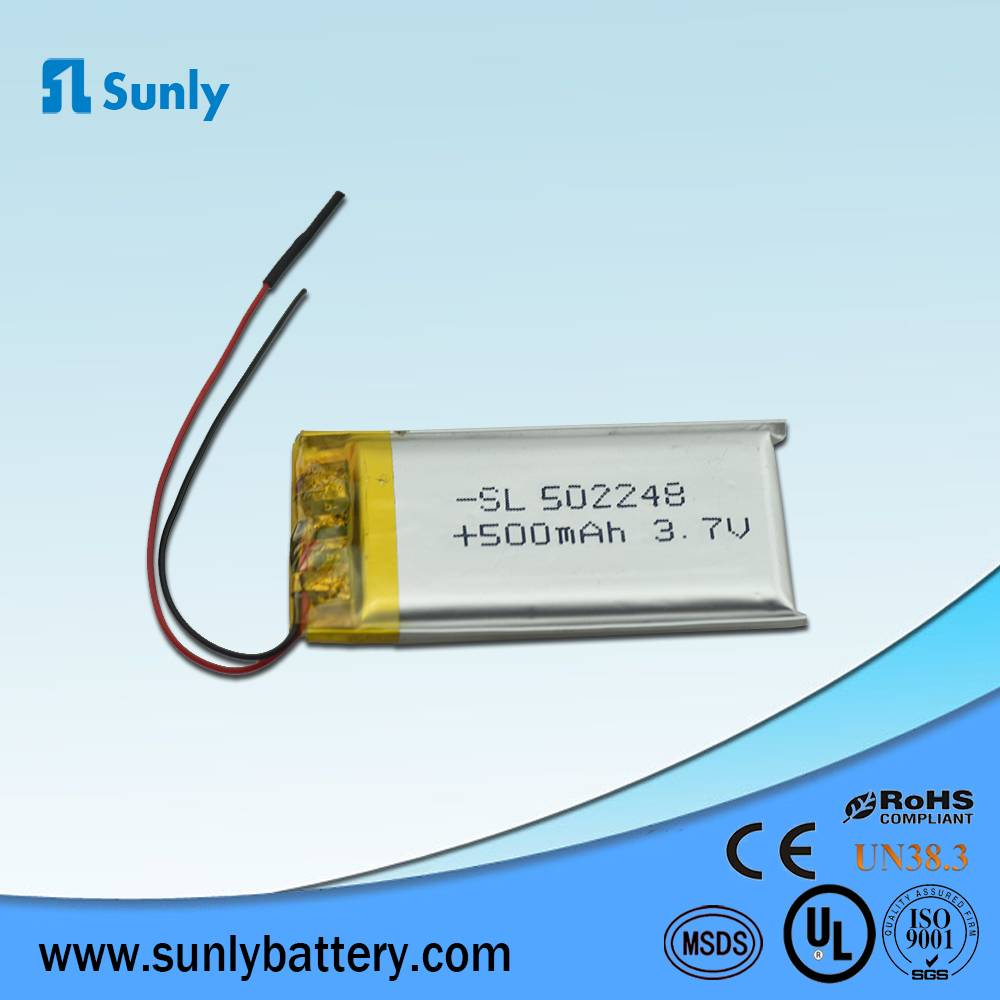 Rechargeable battery 3.7V 500mAh li ion battery pack