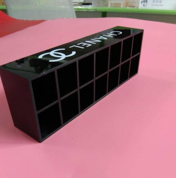 Black acrylic makeup organzier