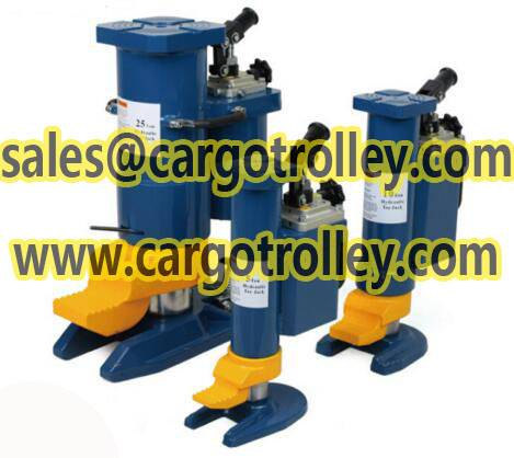 Hydraulic toe jack with dual applications jack