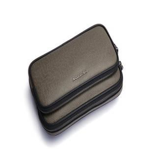 Hautton Soft Men's Cow Leather Business Clutch Bag with Wrist Strap SZb81
