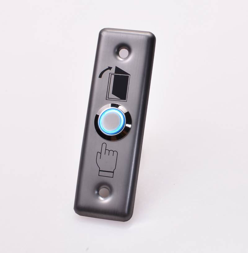 NO/NC/COM Narrow Long Size Stainless Steel Push Exit Button