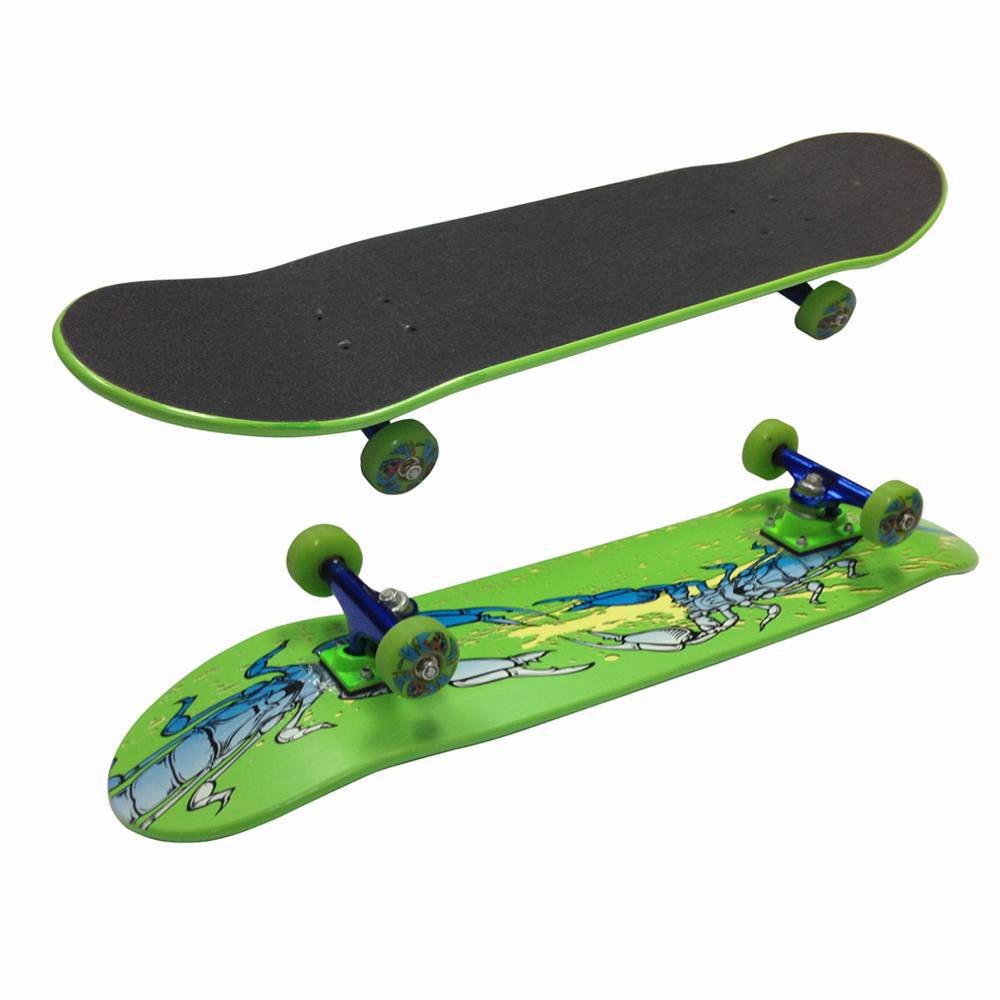 """31""""x8.5"""" Double kicktail Canadian maple Skateboard Complete"""
