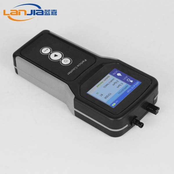 Portable laser particle counter with laser sensor