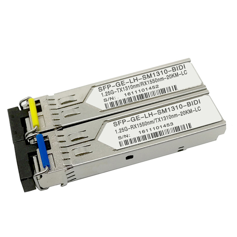 Low Rate Transceiver 1.25G BIDI SFP 20KM TX1550nm RX1310nm