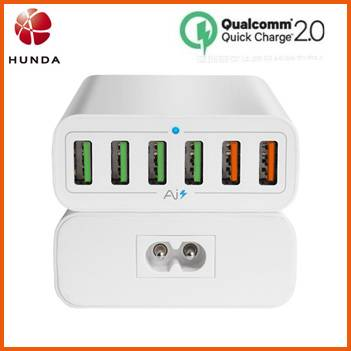 QC2.0 Multiple USB Travel Charger for HTC One M8 Mobile Phone