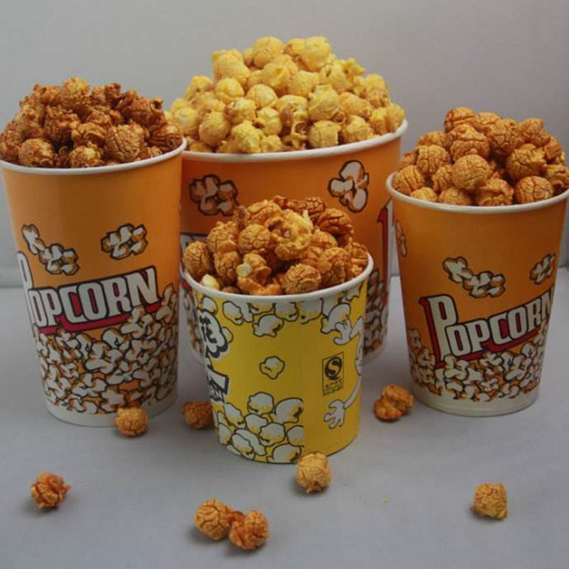 Fashion Popcorn Paper Food Takeaway Bucket