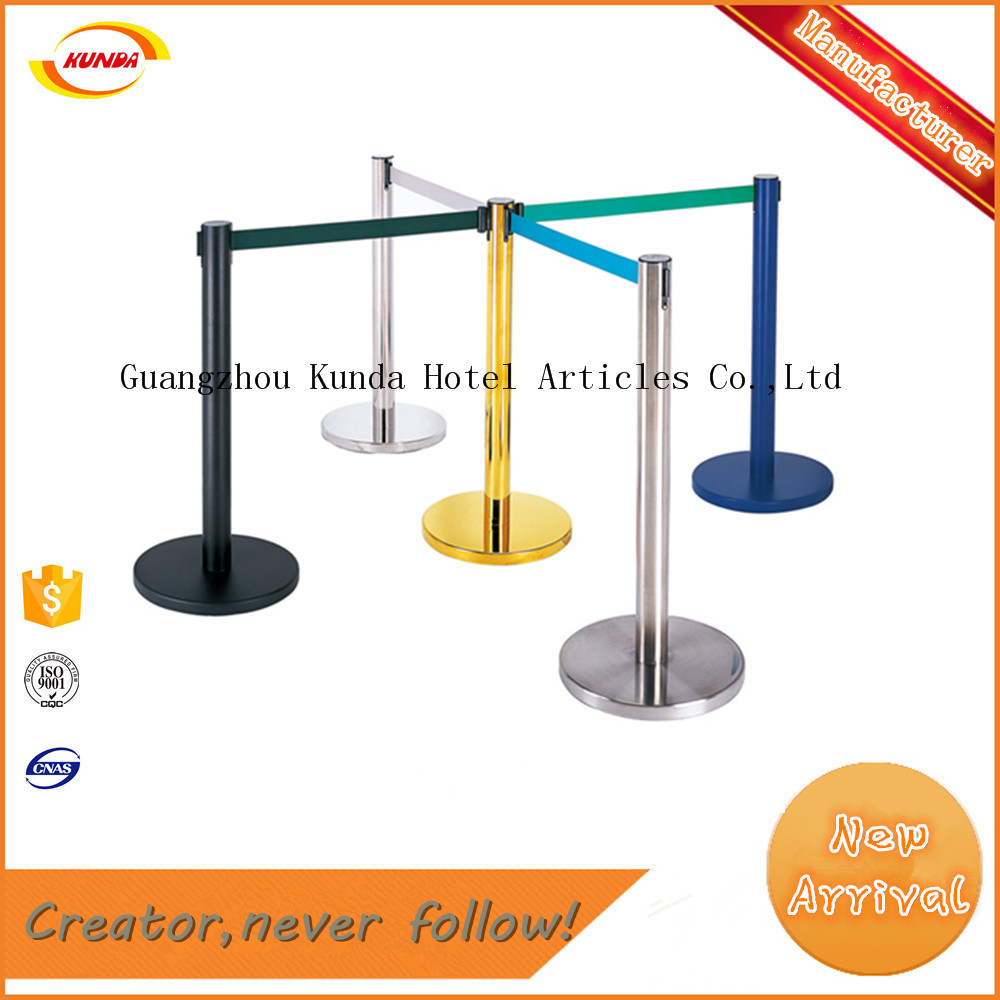 high quality cheap price stainless steel telescopic railing stand double ropes L-11
