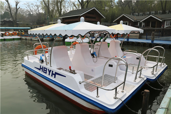 Amusement Water Boat Play Equipment Six Person Water Park Play Equipment Water Play Yehua Equipment