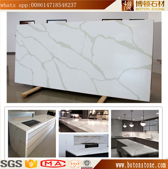 BOTON enginneered calacatte white quartz stone