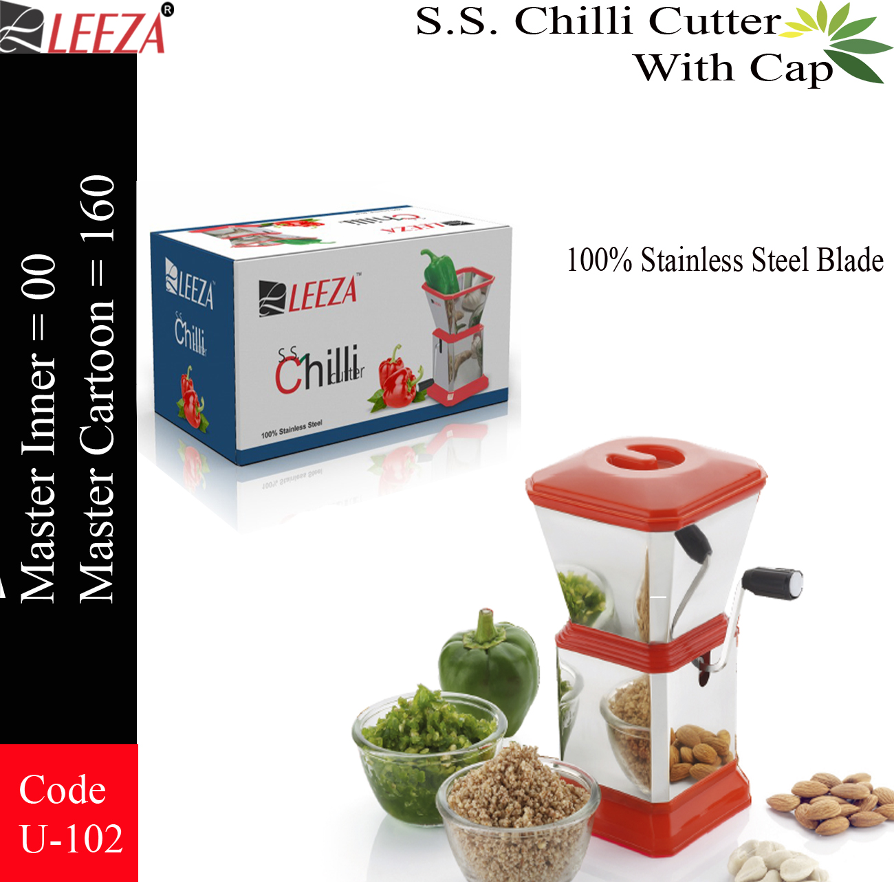 CHILI CUTTER with lid