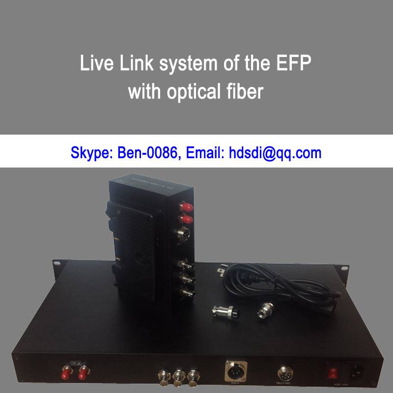 ENG to fiber system with Remote&Intercom&Tally&Return CVBS&Genlock&Ethernet