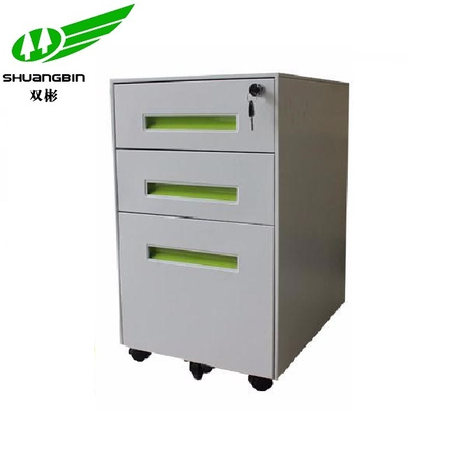 cold rolled steel fashion white mobile steel filing cabinet