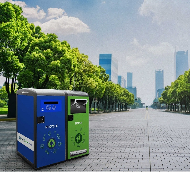 Smart bins that keep cities clean.