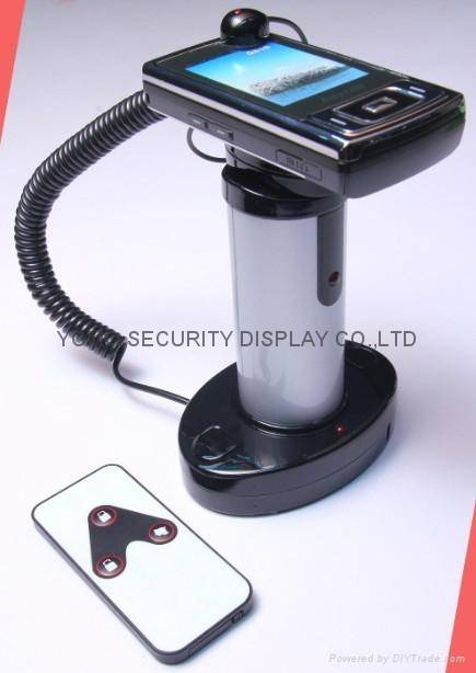 Alarmed Anti-Theft Display Stand for Cell Phone or Camera