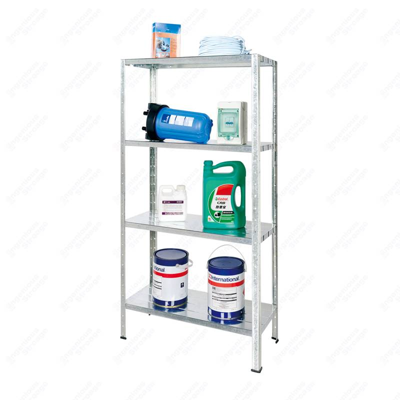 4 Shelf Metal Storage Rack Unit