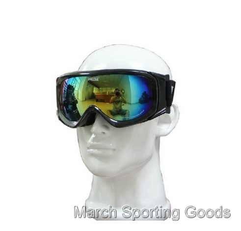 Deluxe Snowboard Ski Goggles Skating Snow Sports Eyewear Dual PC Lens Mirrored Myopia Glasses Fog Pr