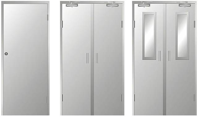 Prices of Chinese Fire Proof Security Pressed Steel Doors (FM-101)