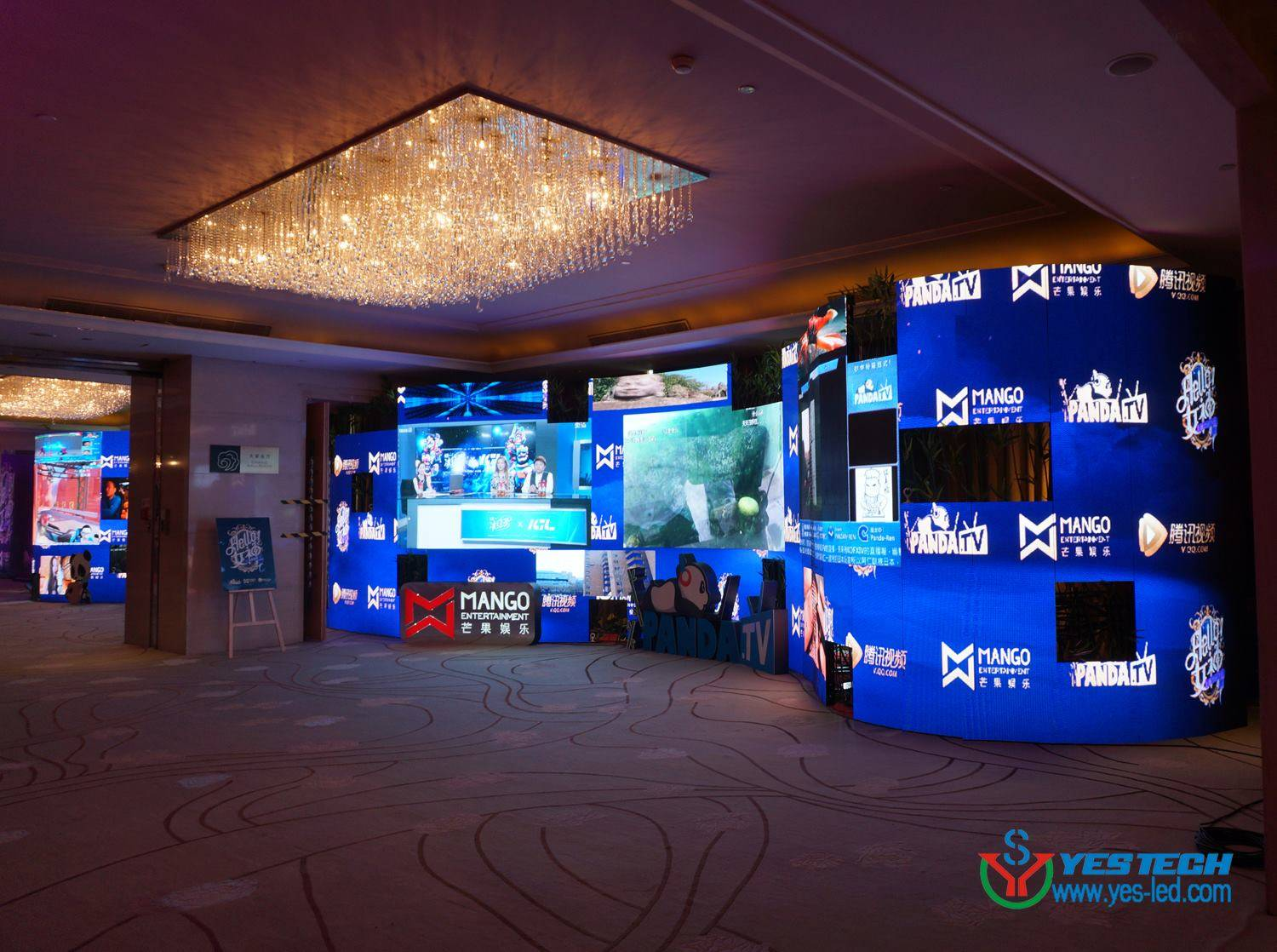 6KG cabinet curved video indoor p3 led wall