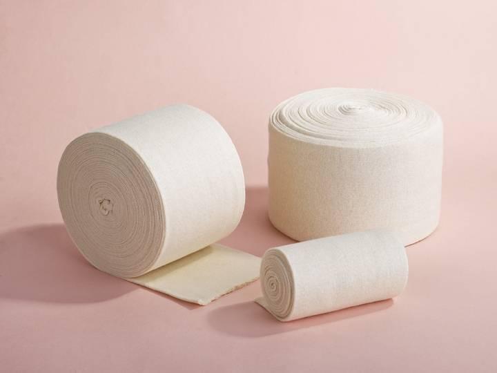 Tubular elastic bandage cotton stockinette