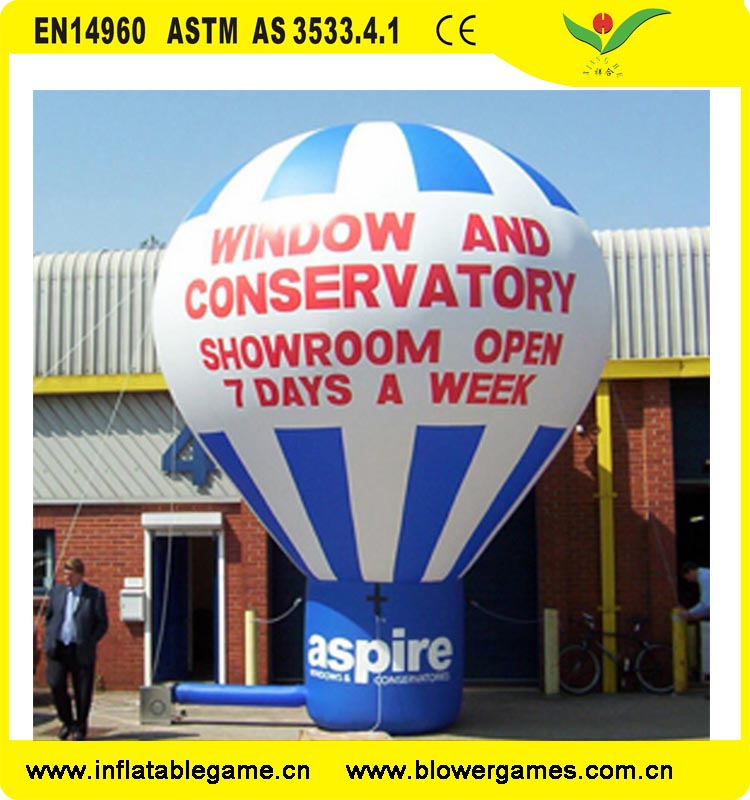 China guangzhou Manufacturer roof top advertising inflatable model hot air balloon