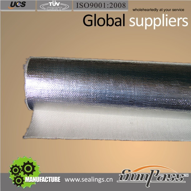 Thermal Insulation Ceramic Cloth Coated Aluminium Foil Ceramic Fiber Cloth