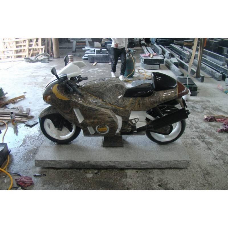 Special design gravestone motorbike shape tombstone