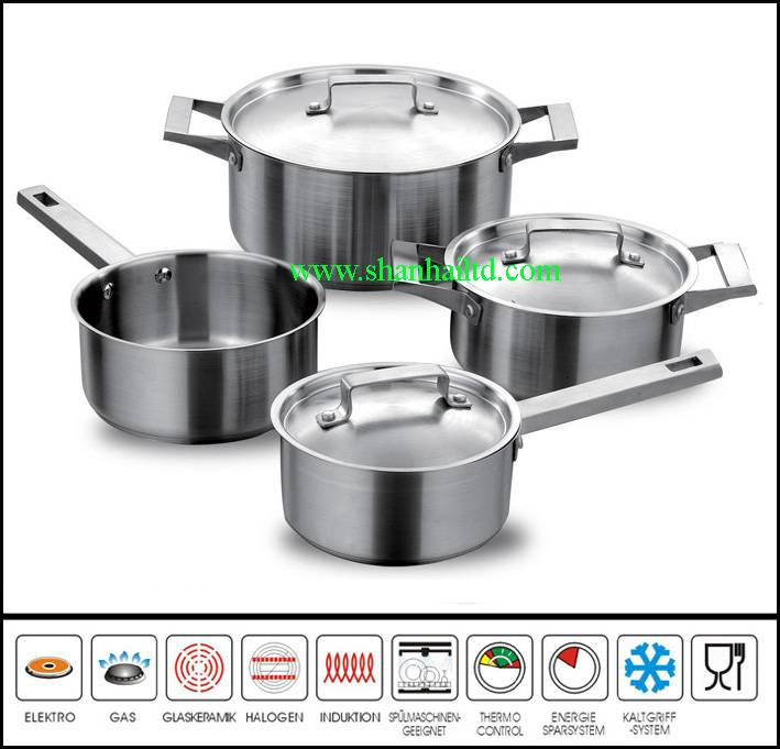Stainless steel 7 pcs cookware set SC517