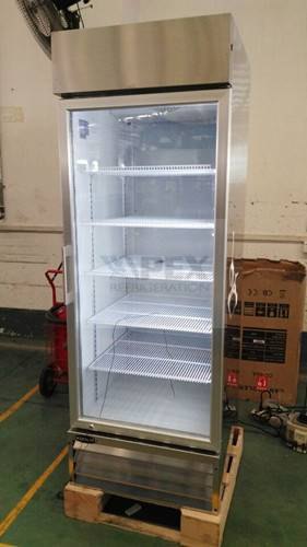 Vertical Stainless Commercial Kitchen/Supermarlket Refrigerator
