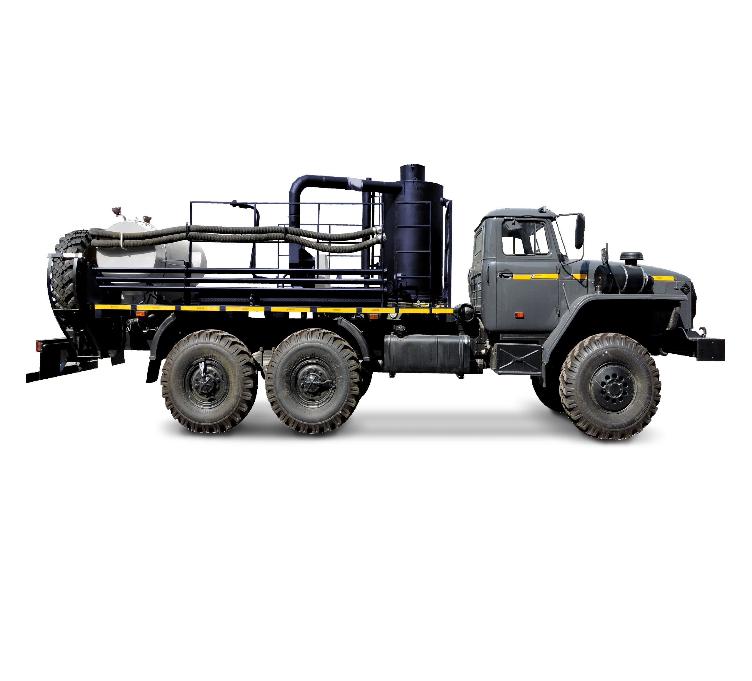 UNISTEAM-AS 6x6 hot oil trucks (hot oilers) for dewaxing treatment and increasing of oil extraction